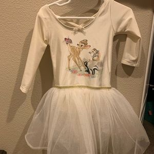 Bambi h&m cream dress leotard with skirt